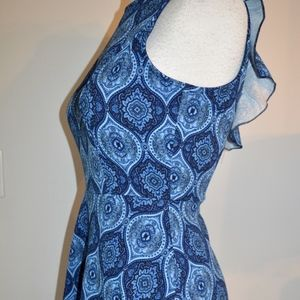 XS Blue Rain Navy Dress